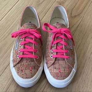 Superga Pink Cork Sneakers
